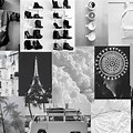 Black And White Aesthetic Collage Wallpaper Laptop