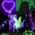 Neon Green And Purple Aesthetic Background