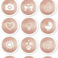 Rose Gold Instagram Highlight Icons Free