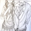 Pencil Drawing Girl And Boy Love