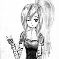 Pencil Cute Girl Drawing For Kids