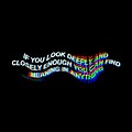 Trippy Deep Meaning Glitch Black Aesthetic Wallpaper