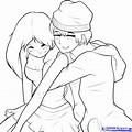 Hand Pencil Drawing Girl And Boy Drawing