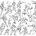 Fighting Poses Drawing