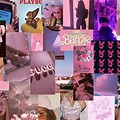 Baddie Aesthetic Collage Wallpaper Pink Aesthetic Wallpaper Laptop