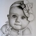 Cute Baby Girl Pencil Drawing Images