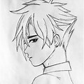 Simple Girl And Boy Pencil Drawing