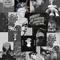 Anime Collage Wallpaper Aesthetic Black And White