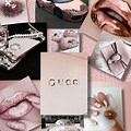 Collage Rose Gold Aesthetic Wallpaper For Laptop