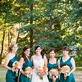 Teal And Copper Wedding Dress