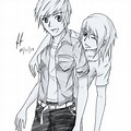 Pencil Drawing Boy And Girl Best Friends
