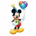 Mickey Mouse Black And White Outline Clipart