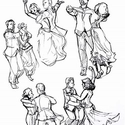 Anime Couple Romantic Couple Dancing Drawing Reference