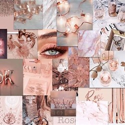 Aesthetic Macbook Wallpaper Collage Rose Gold