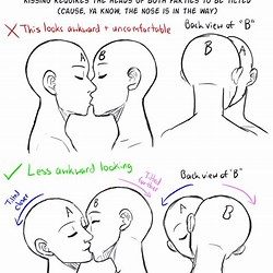 Couple Kissing Drawing Reference Poses