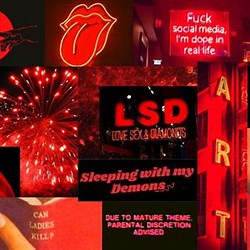 Aesthetic Macbook Wallpaper Collage Red