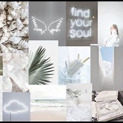 Aesthetic Macbook Wallpaper Collage White