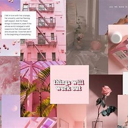 Aestheticbackground Pinkbackground Aesthetic Macbook Wallpaper Collage