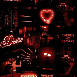 Black And Red Vintage Aesthetic Wallpaper