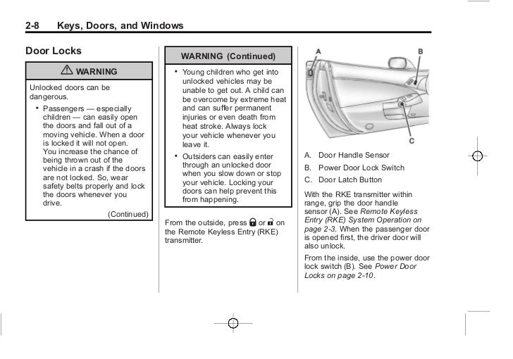 2013 Chevy Corvette Owners Manual