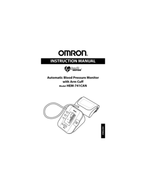Relion Hem 741crel Blood Pressure Monitor User Manual
