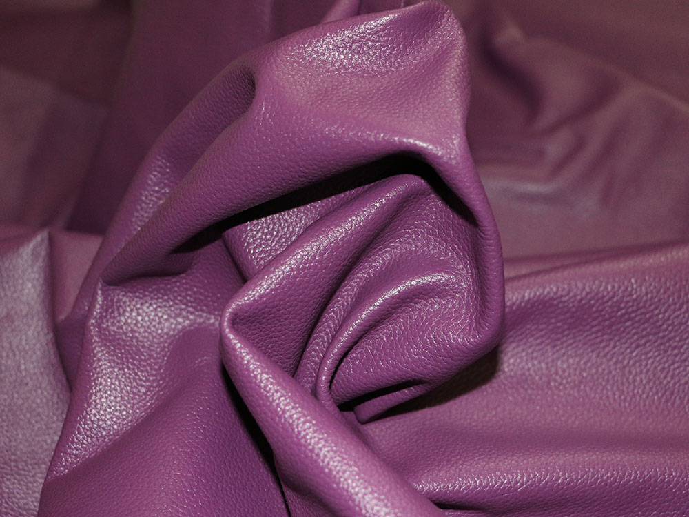 Purple Cowhide Leather