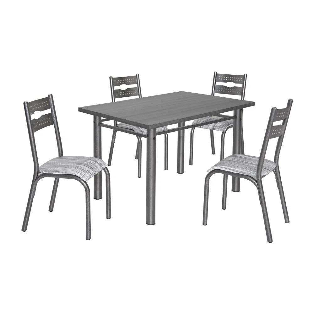 Mesa de Jantar 4 Cadeiras  Ciplafe Luna  Novo Mundo