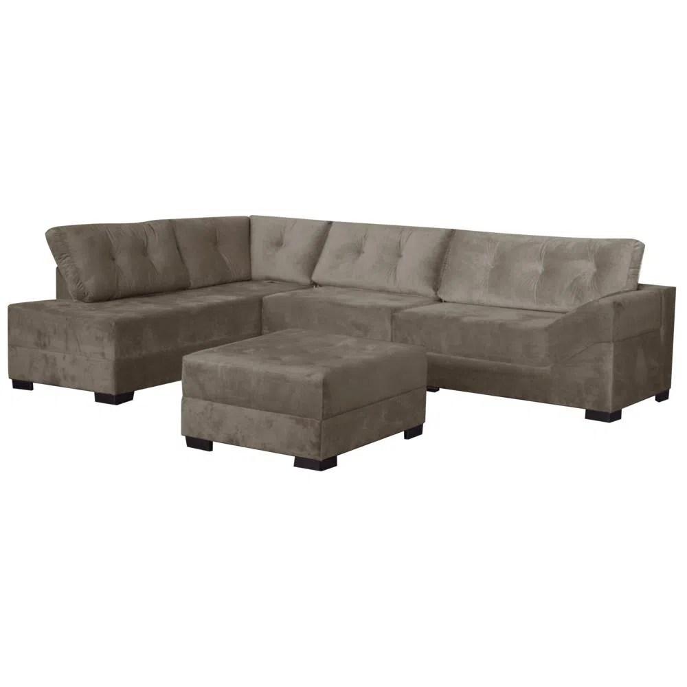 Sofa De Canto 2 E 3 Lugares Com