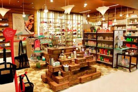 Layout de loja de cosméticos