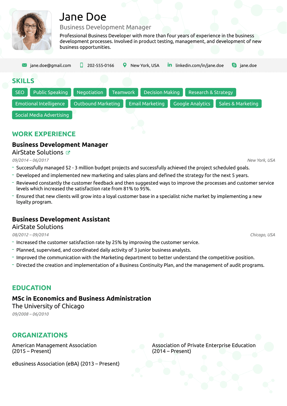 creative resume titles examples