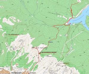 МАРКОТХСКИЙ хребет на карте
