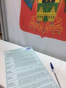 выборы в Новороссийске, избирательный бюллетень