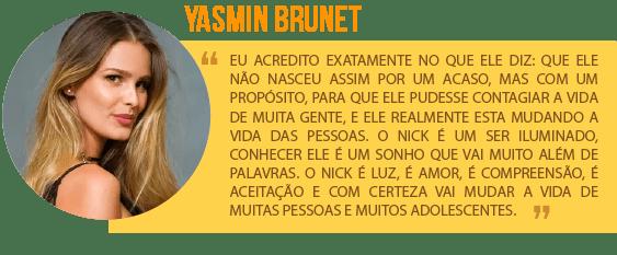 Depoimento Yasmin Brunet Experiencia Sem Limites Nick Vujicic