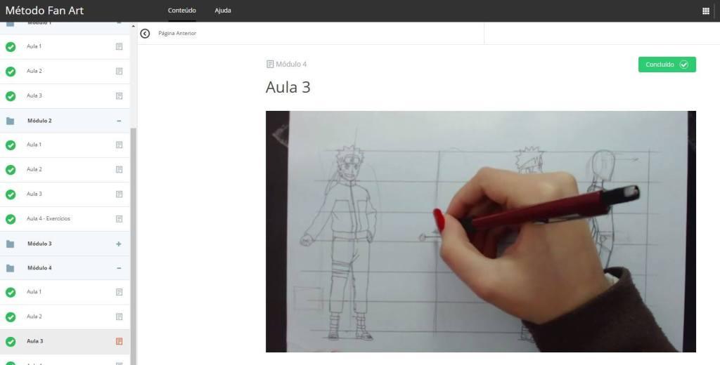 Curso de desenho anime online