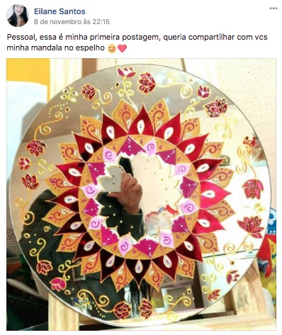 Mandalas de vidro de Aluna do curso Maya Jurisic