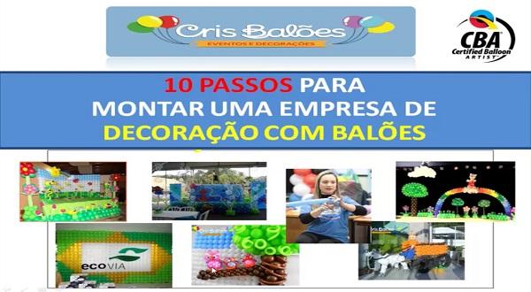 Curso Cris Balões - Curso online de decoração com balões