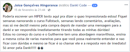 pacote full stack vale a pena depoimento