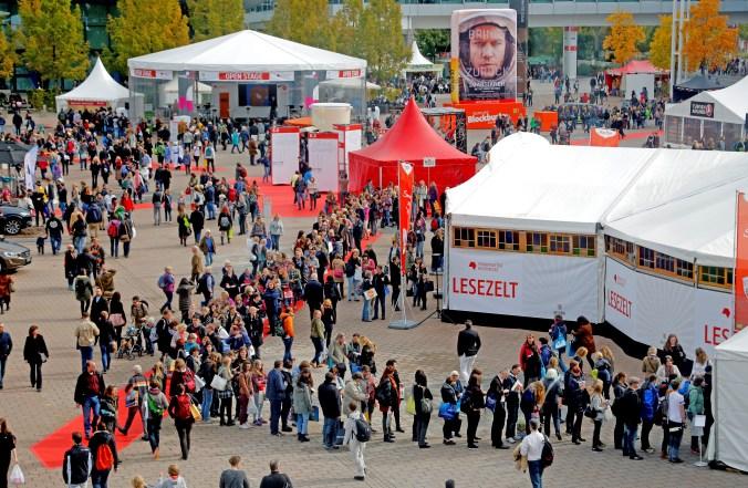 Die Agora auf der Frankfurter Buchmesse 2015.