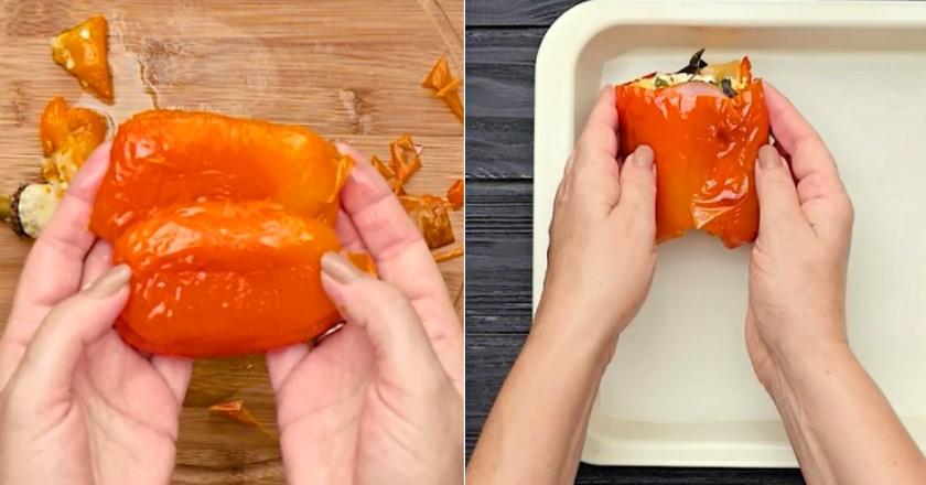 Перцы, запеченные с ветчиной и сыром