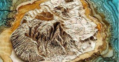 3D-карты из дерева