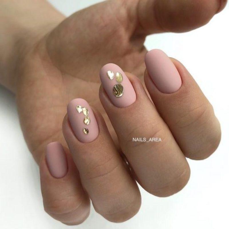 маникюр розовое золото фото_2