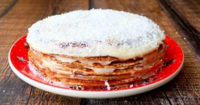 Блинный торт - медовик на сковороде