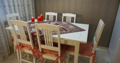 У нас получилась очень уютная и приятная кухня. Просьба оценить!