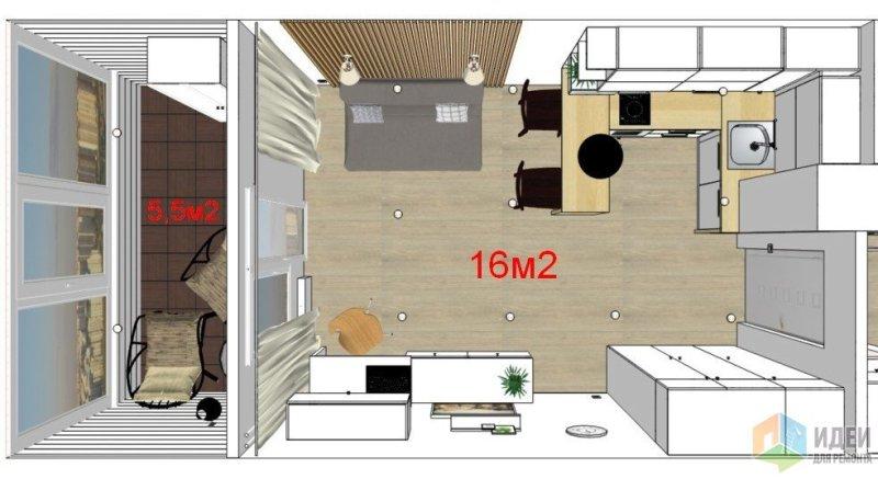 Проект комнаты с растановкой