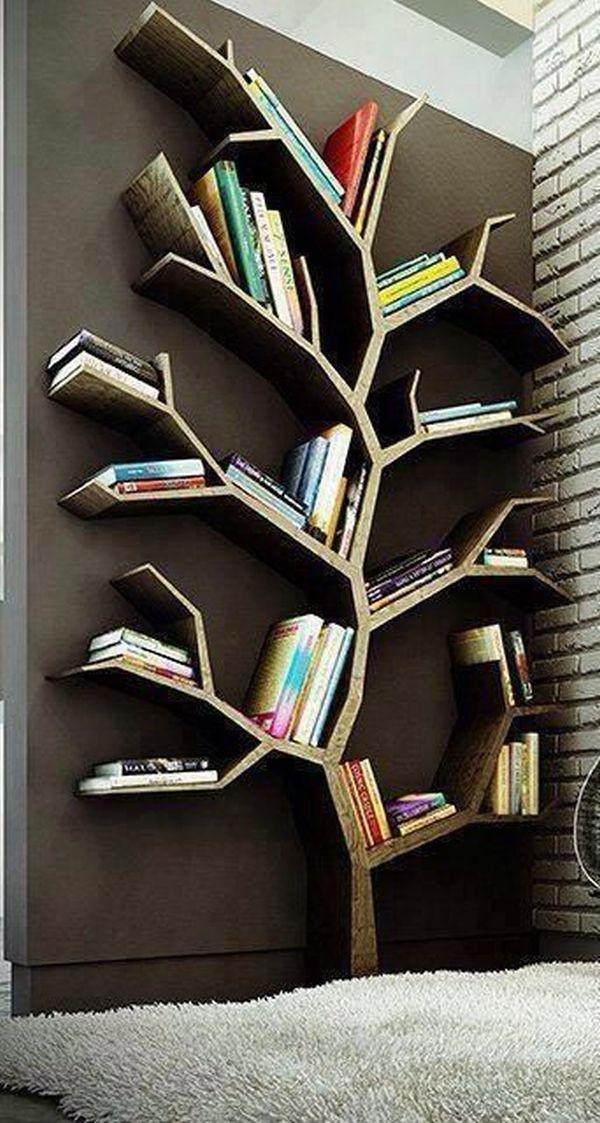 Удачно реализованные идеи хранения для книг, не занимающие много места