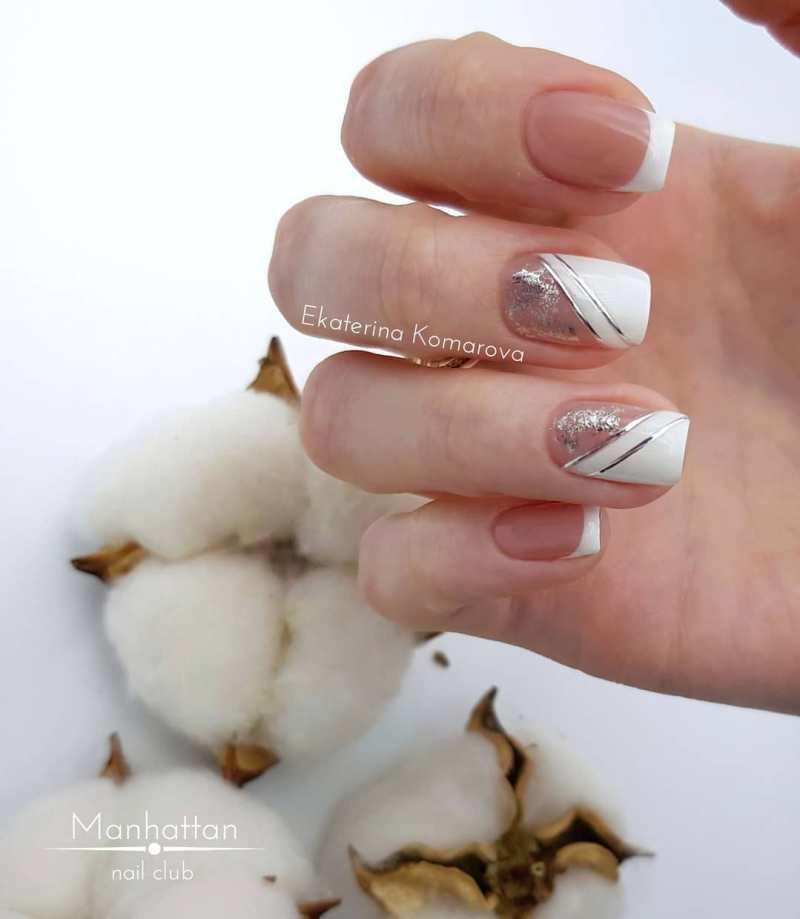 белые короткие ногти 2019_18