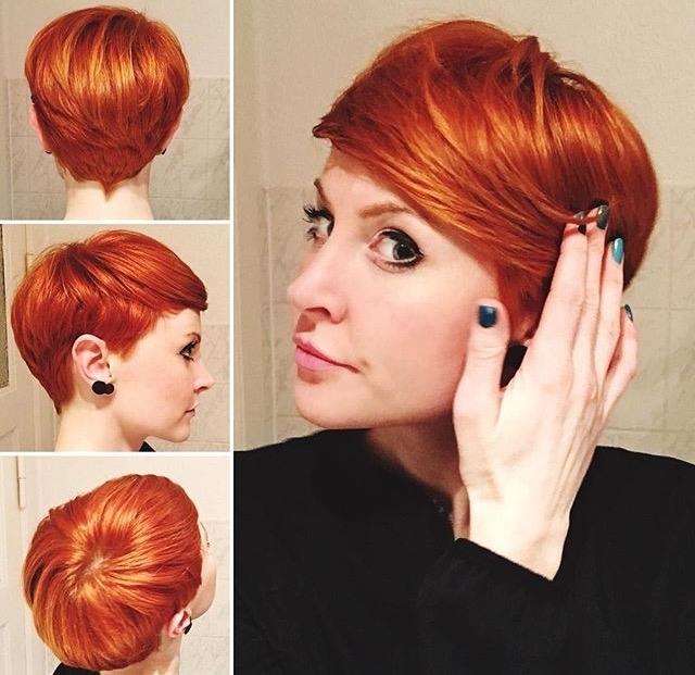 20 лучших стрижек пикси для рыжих волос