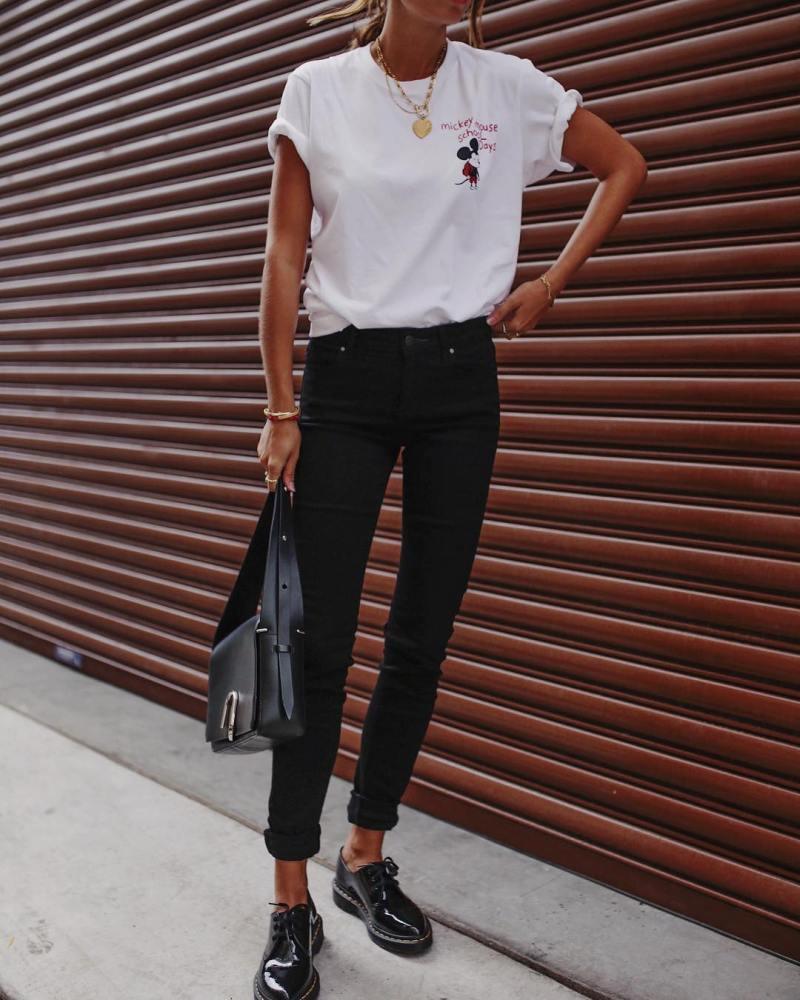 джинсы и футболка фото 3