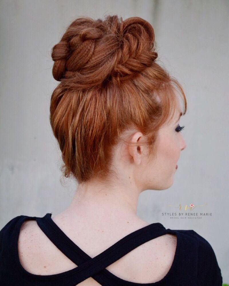 длинные волосы с косой челкой фото 14