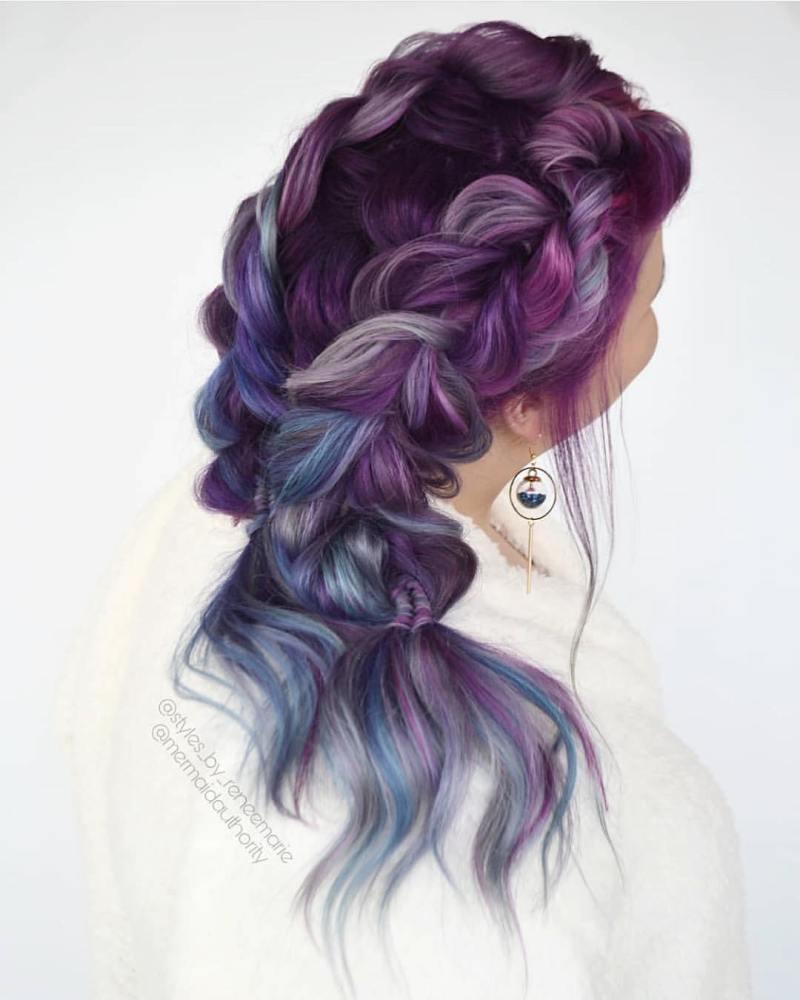 длинные волосы с косой челкой фото 16